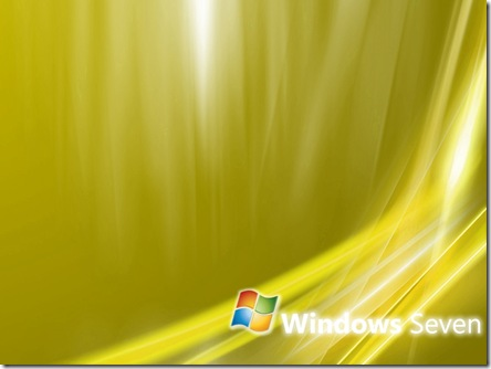 Windows Seven Wallpaper Gold 1024x768