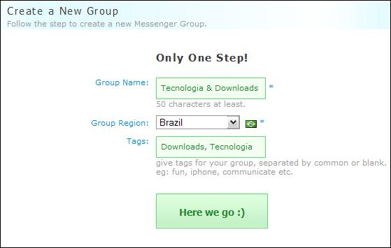 Veja como é fácil crair um Messenger Group!