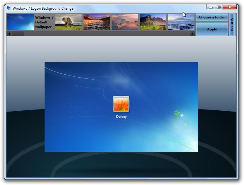 Como modificar a tela de logon do windows 7 tecnologia - Windows 7 wallpaper changer software ...